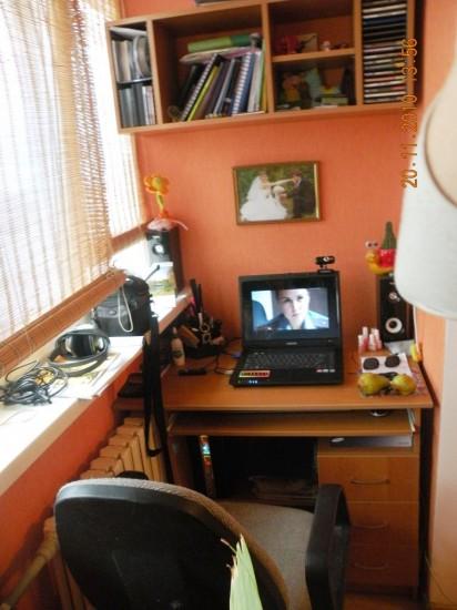 """Кабинет в спальне """" Яркая спальня """" интерьер фото """" универдо."""