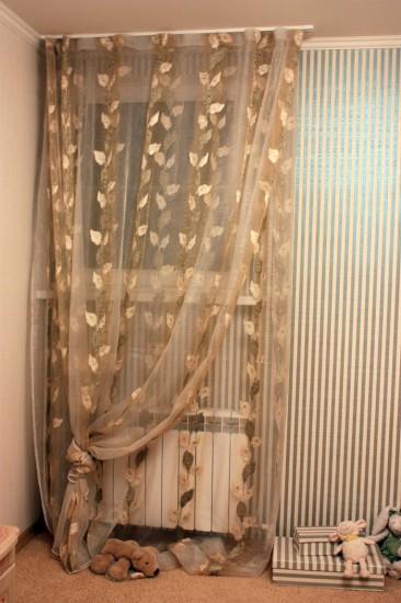 Как сделать двойные шторы