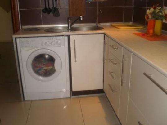 Стиральная машина как часть кухни