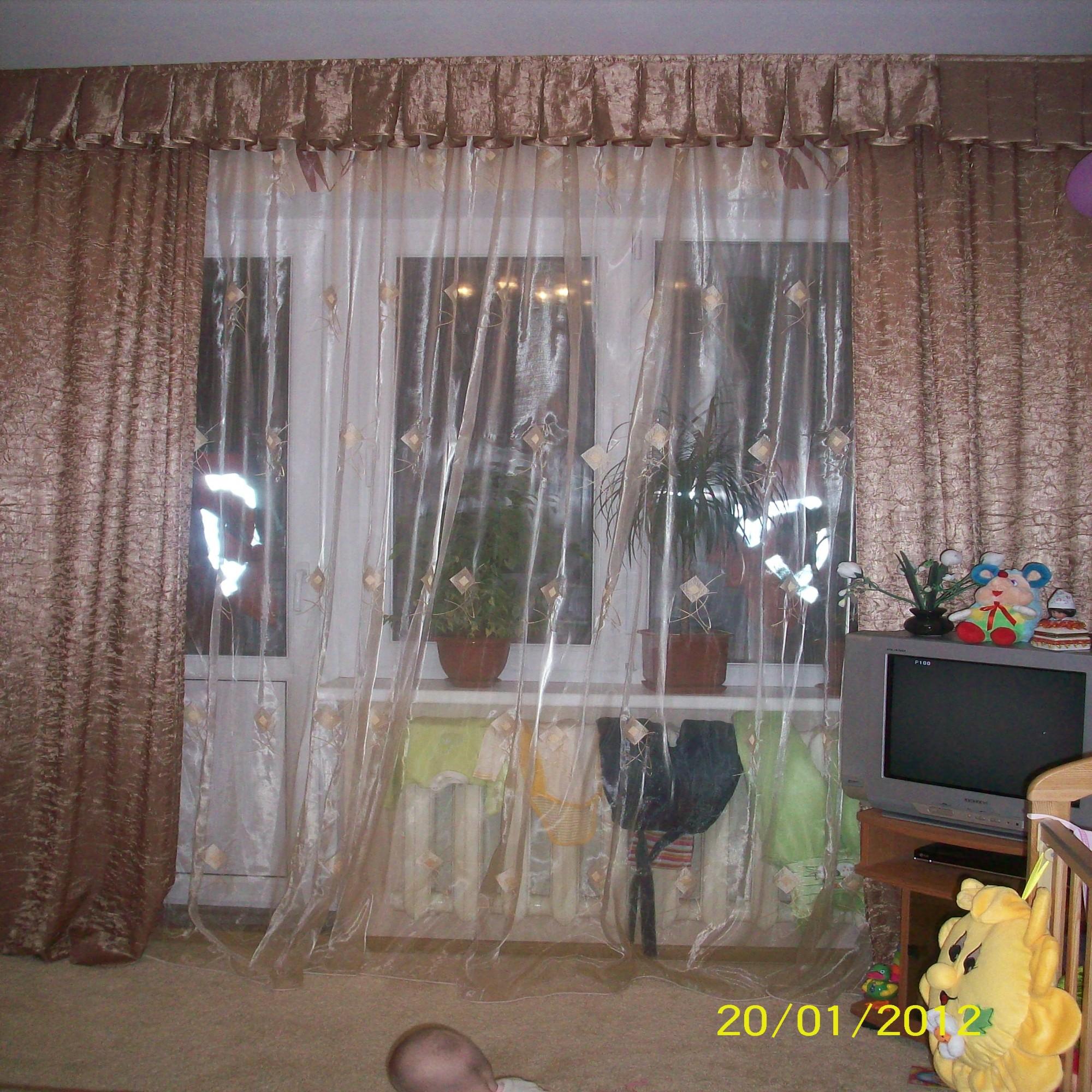 Органза на окнах дизайн