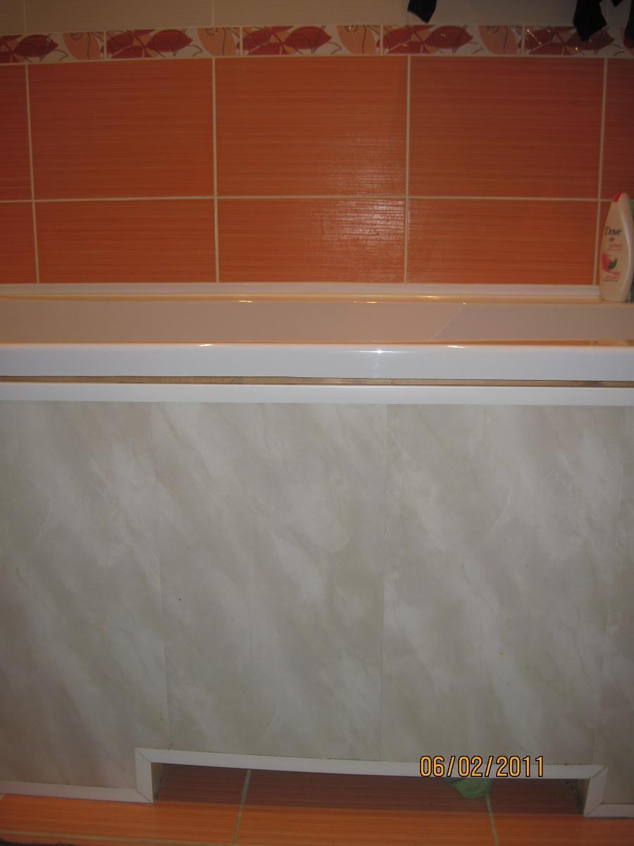 Как отделать ванную комнату пластиковыми панелями 11