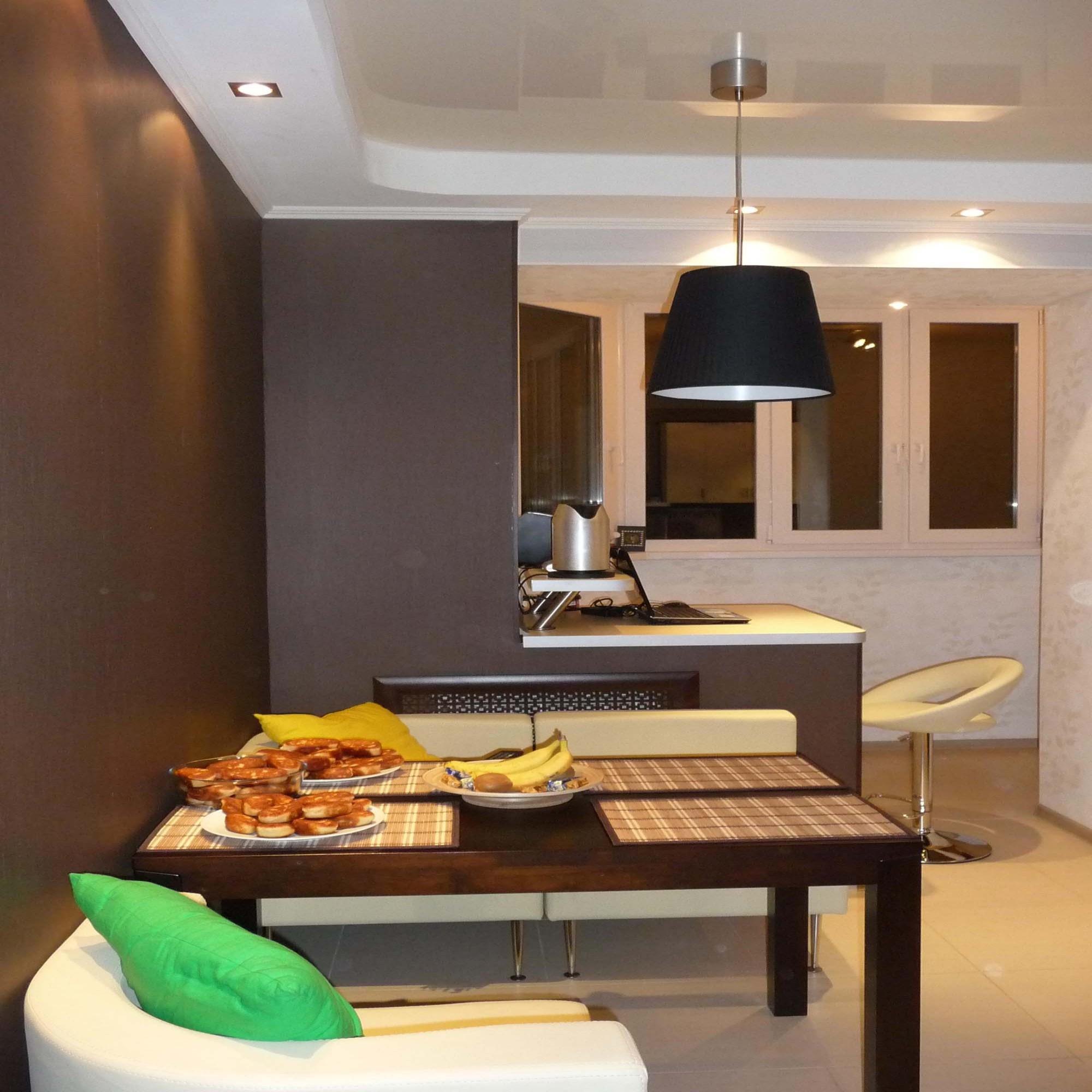 Кухня с балконом - как совместить два интерьера? 100 фото го.