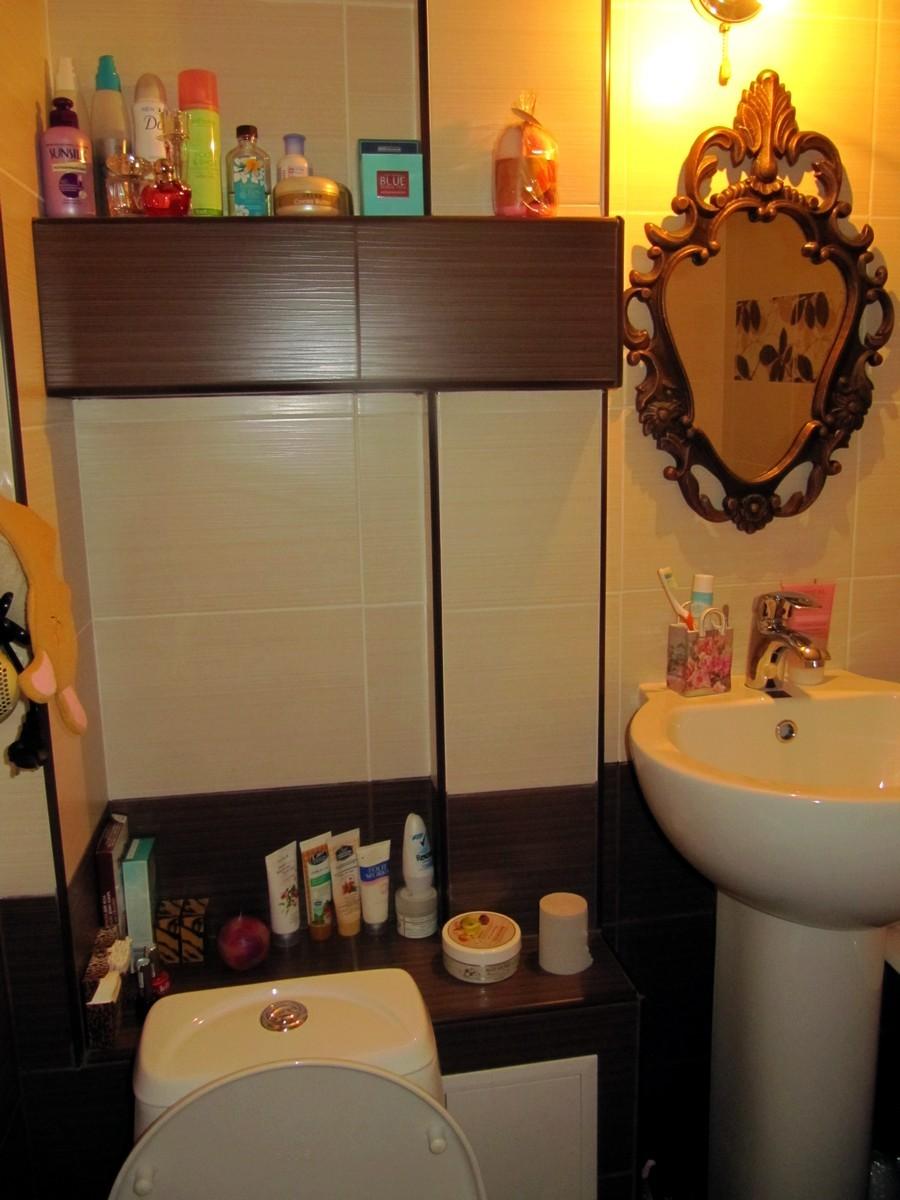Полки в ванной » крошечная, но уютная