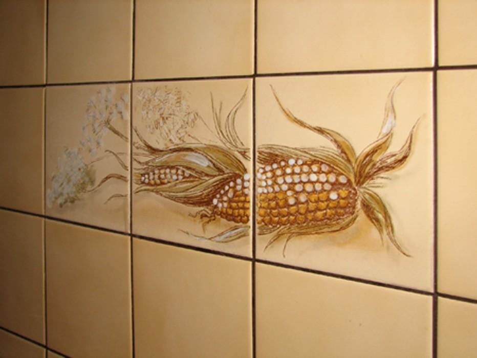 Рисунки на кафельной плитке своими руками 43
