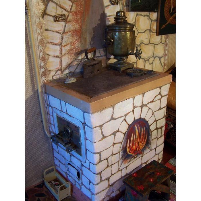 Как украсить печь в доме своими руками фото