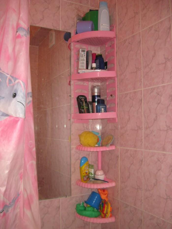 Полка для моющих в ванную своими руками 22