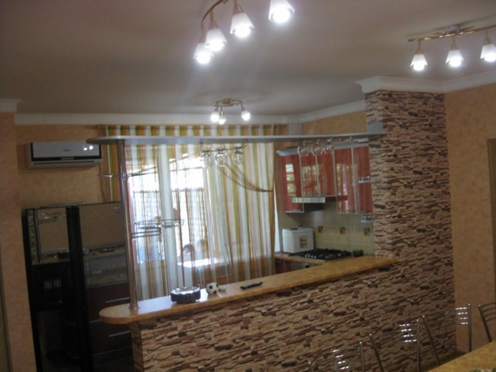 Барная стойка из гипсокартона для кухни