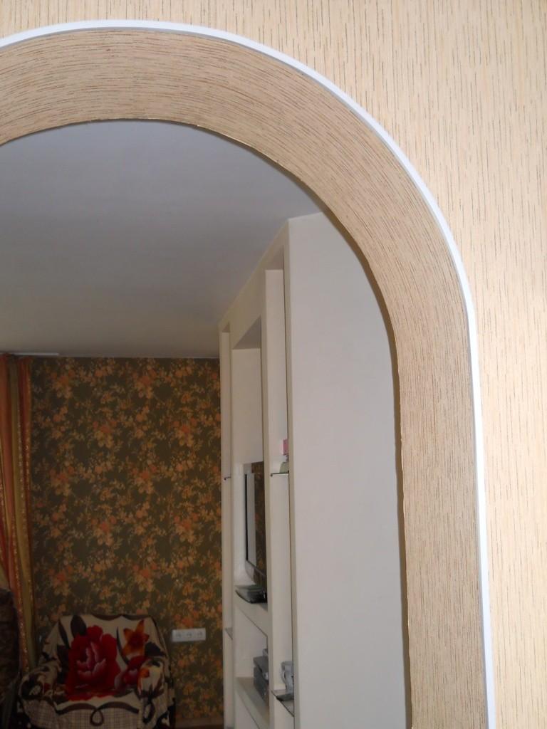Оформление арки в квартире обоями своими руками 10