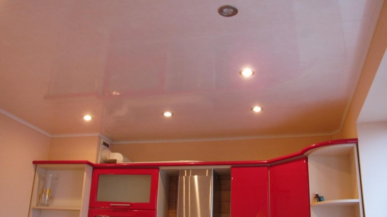 Панельный потолок на кухне своими руками 25