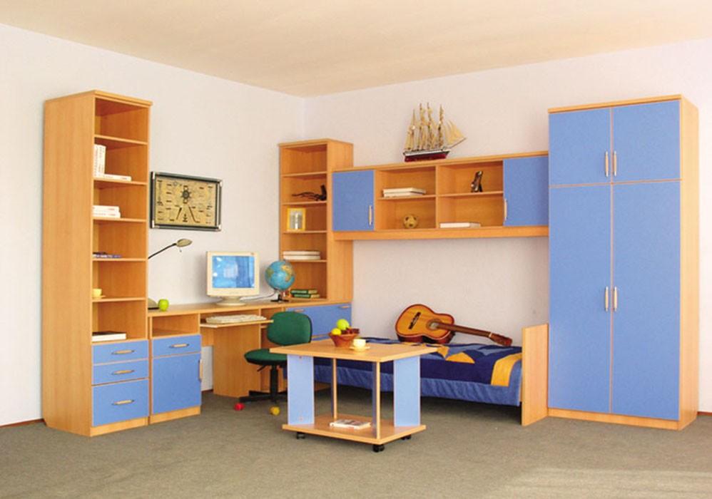 Детская: кровать, шкаф, стелаж, стол, журнальный столик ооо .
