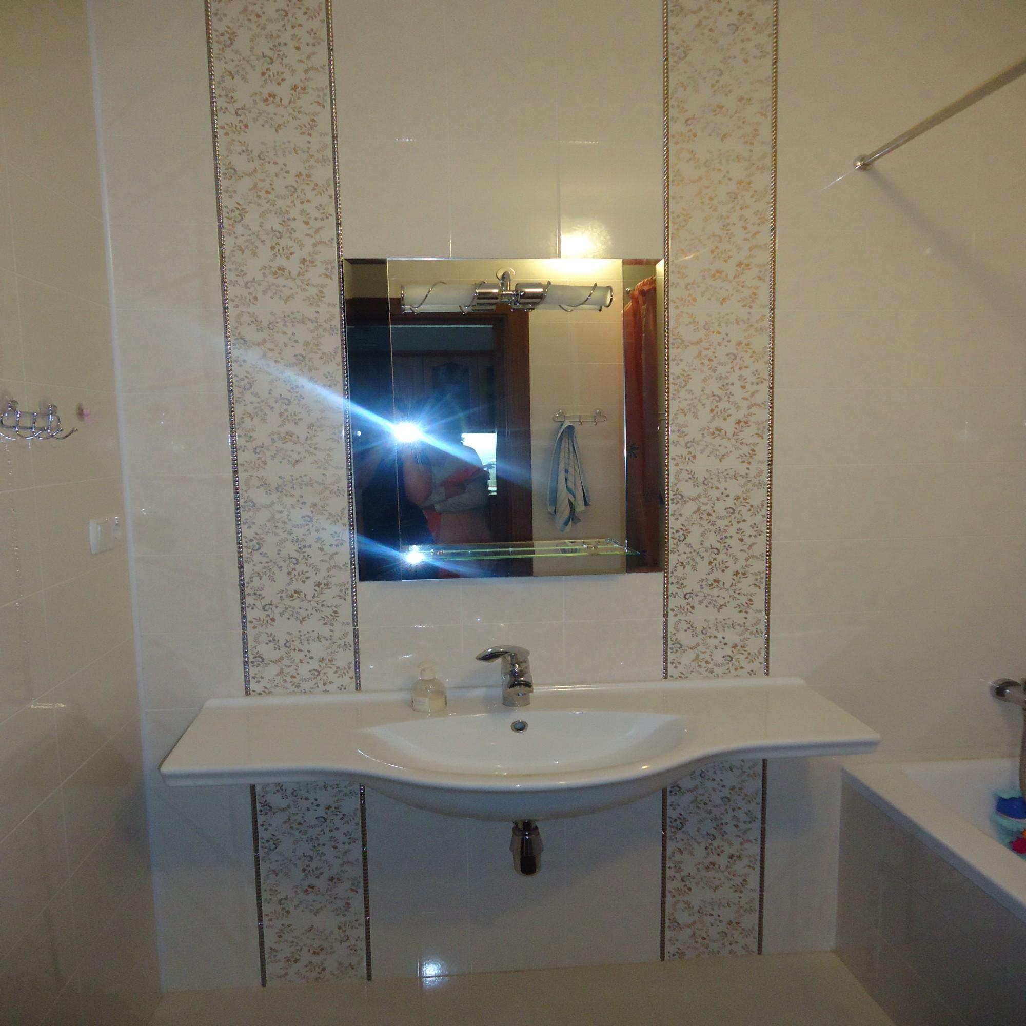 плитка в ванной светлая фото