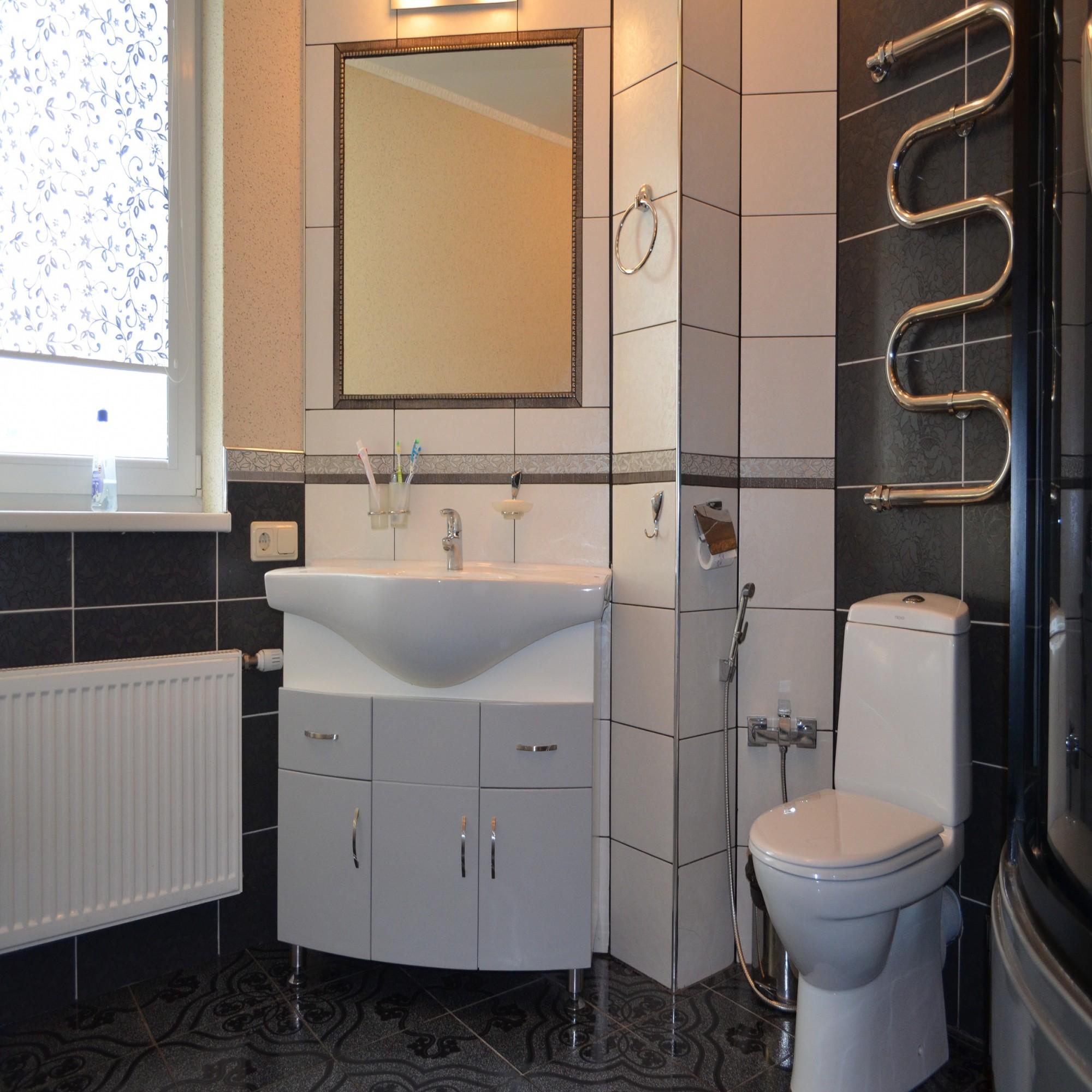 » Ванная комната в черно-белых тонах
