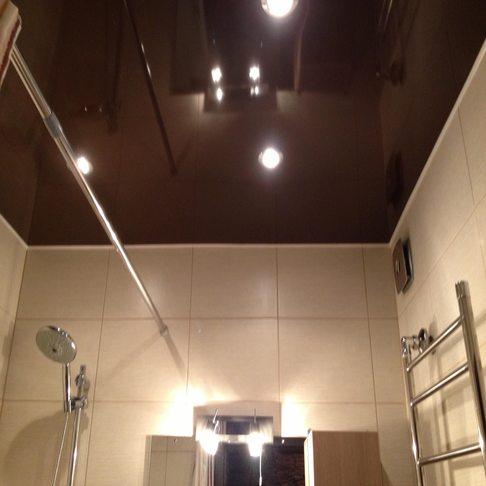 Натяжные потолки темные фото