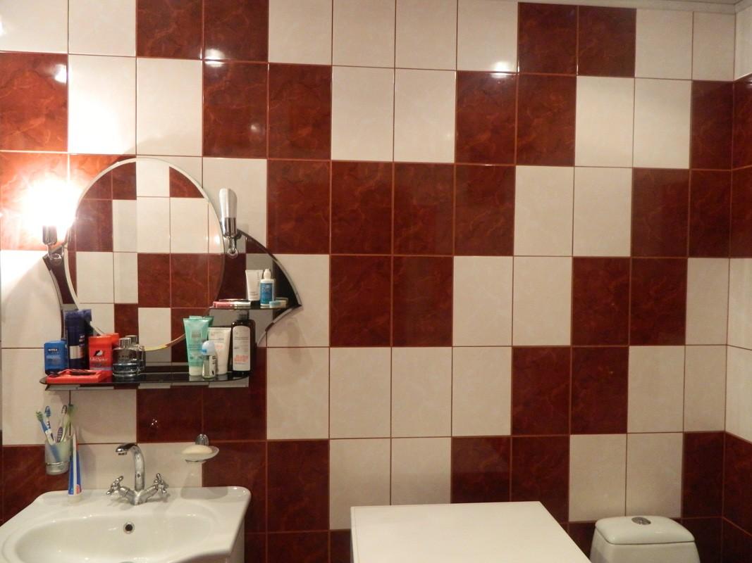 Ванная комната плитка двух цветов