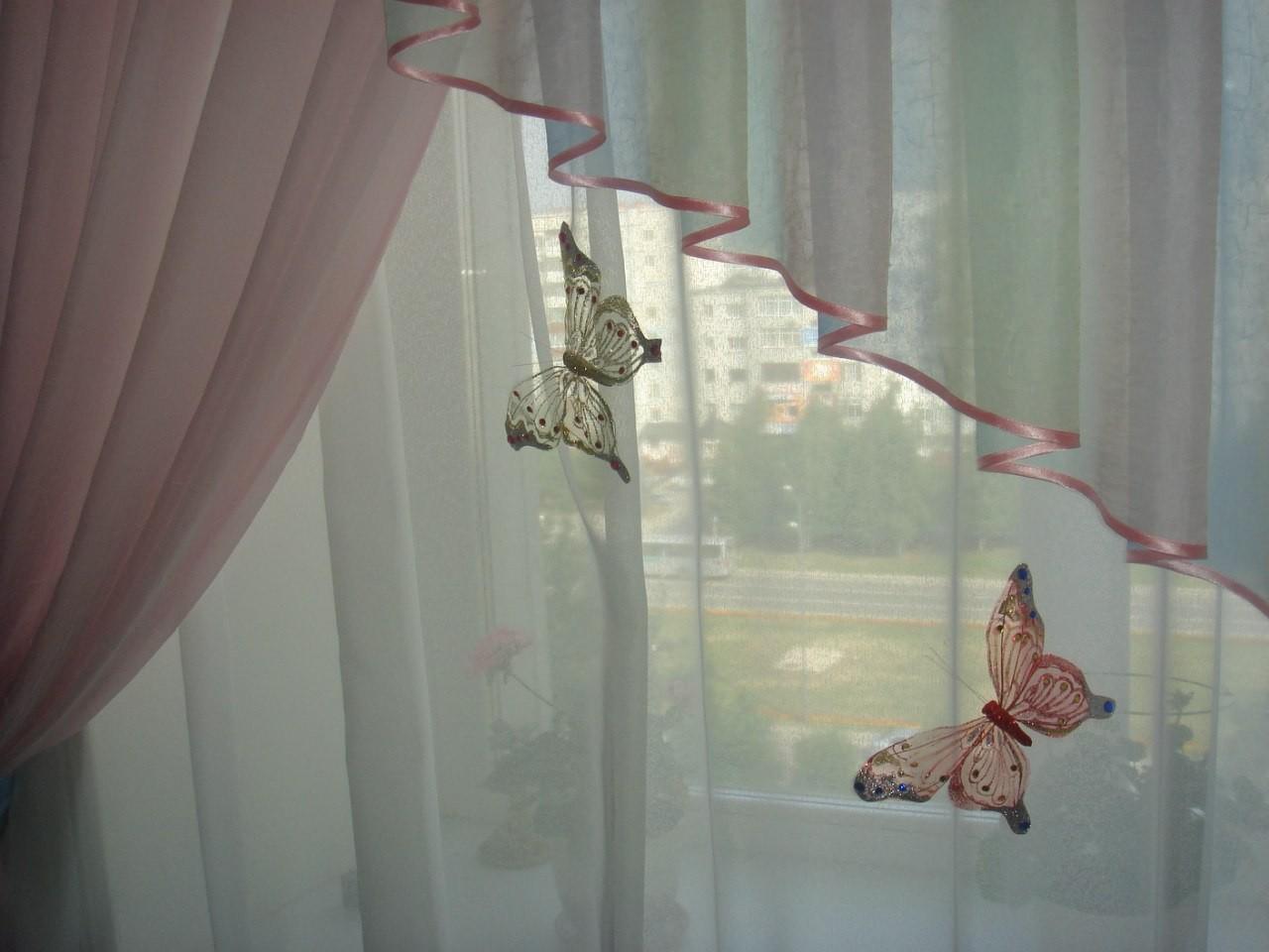 Как сделать бабочку для декора штор
