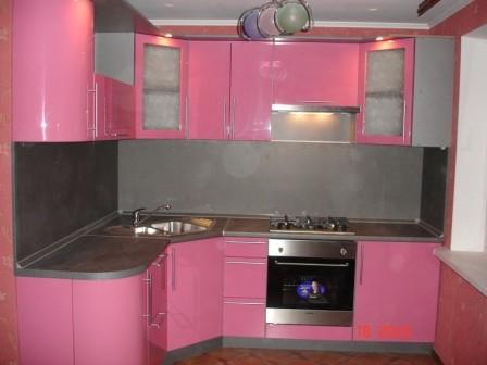 Розовая кухня фото дизайн и интерьер