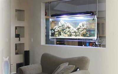 Необычный декор аквариумов
