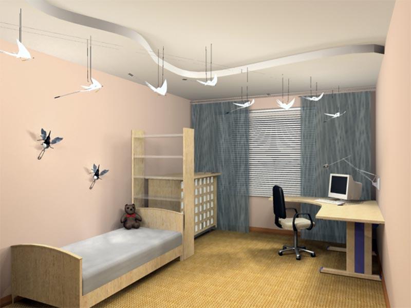 Оформления интерьера детской комнаты