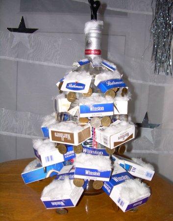 Новогодняя елка украшенная своими руками
