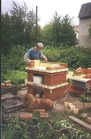 Печка-барбекю на дачный участок садовое грили барбекю запорожье
