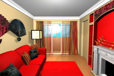 Дизайн зала с камином фото