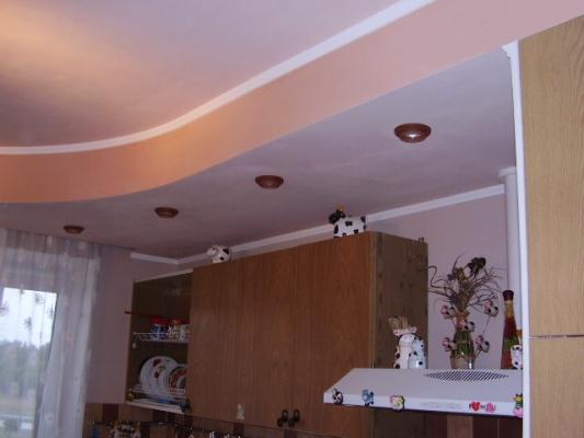Своими руками подвесной потолок на кухне