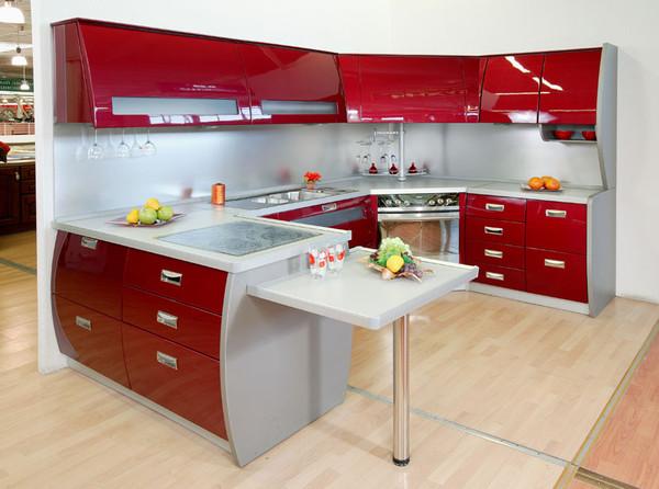 Фото интерьеров кухни в красном цвете