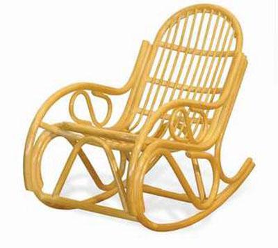 05/04 Кресло-качалка из ротанга с подушкой - Плетеная мебель из ротанга - Интернет магазин мебели в