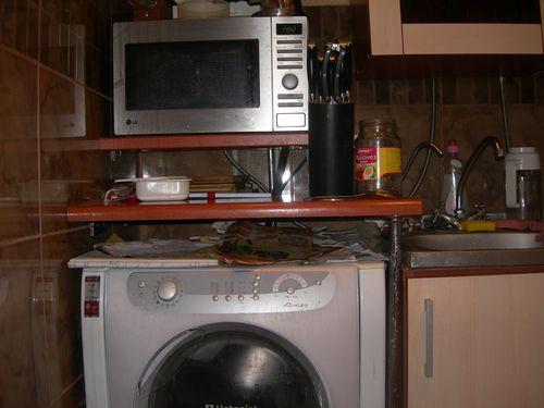 Столешница над стиральной машиной на кухне своими руками