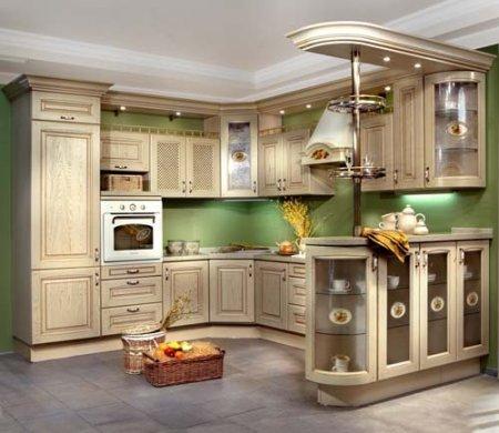 """Кухонный гарнитур  """"Позитано """" выполнен в стиле  """"Кантри """"."""