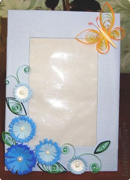 Рамка из цветной бумаги