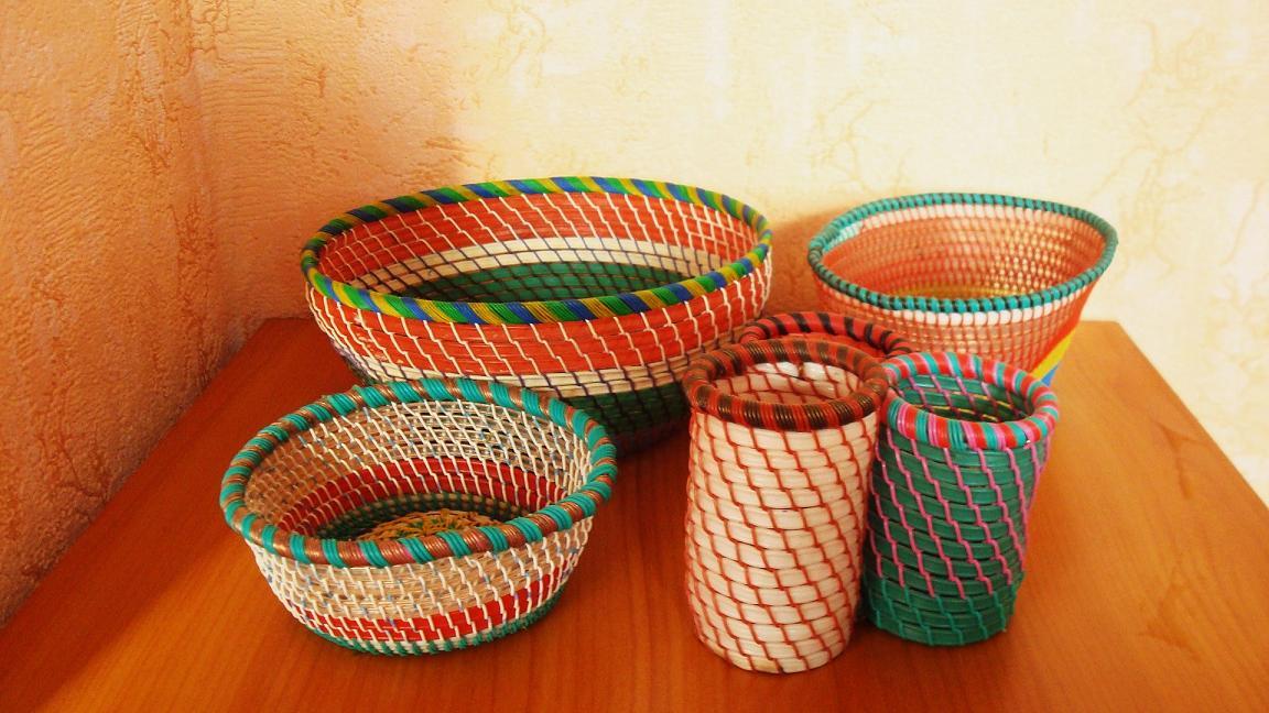 Плетение корзины из проводов - Вторая жизнь проводов- корзина Страна Мастеров