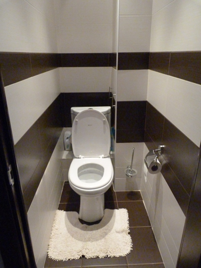 Туалет выложенный плиткой фото