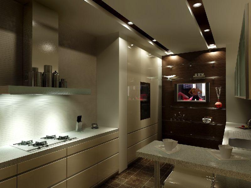 Дизайн кухня в коттедже