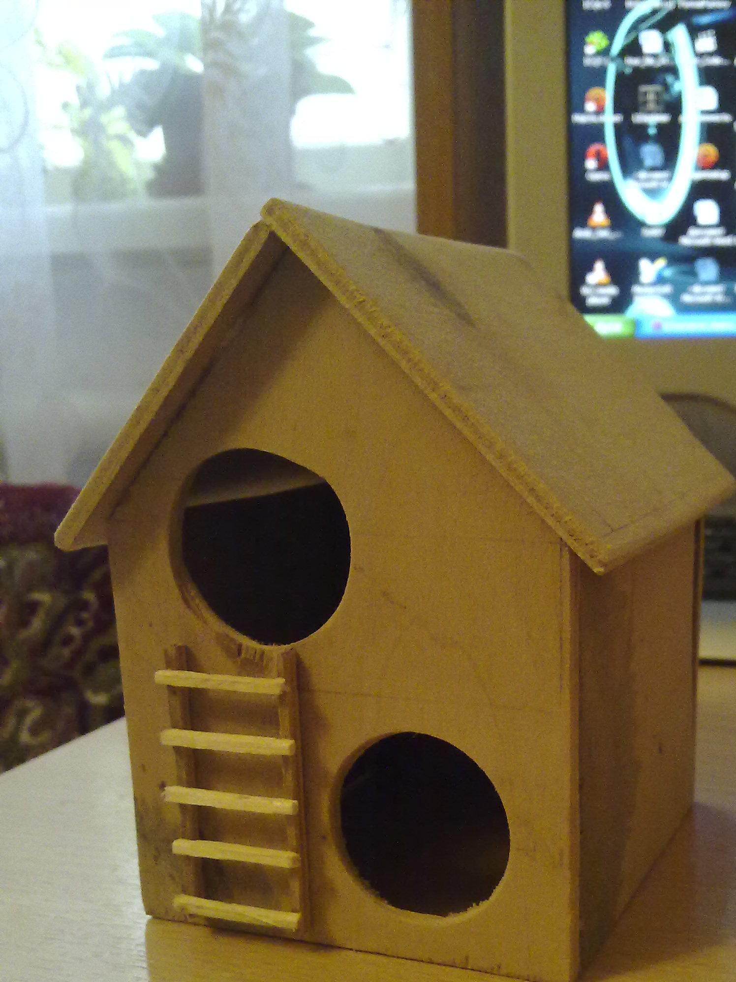 Как сделать домик хомякам из коробки