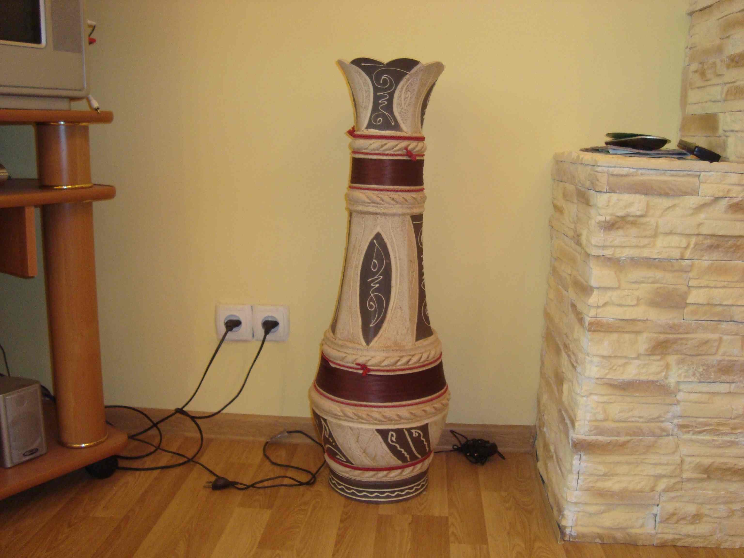 Напольную вазу своими руками фото