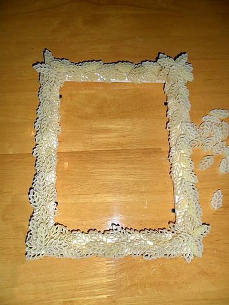 Рамки для фото из макарон