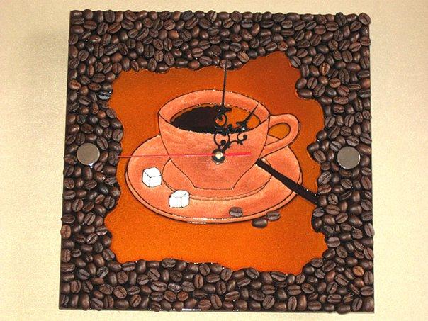 Часы своими руками с кофе