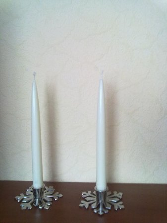 Для длинных свечей подсвечники своими руками