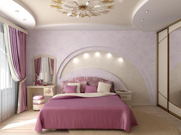 Дизайн спальни в стиле барокко.