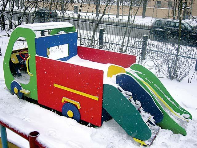 Сделать своими руками машинку для детской площадки