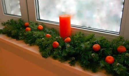 Новогодние украшения из еловых веток своими руками