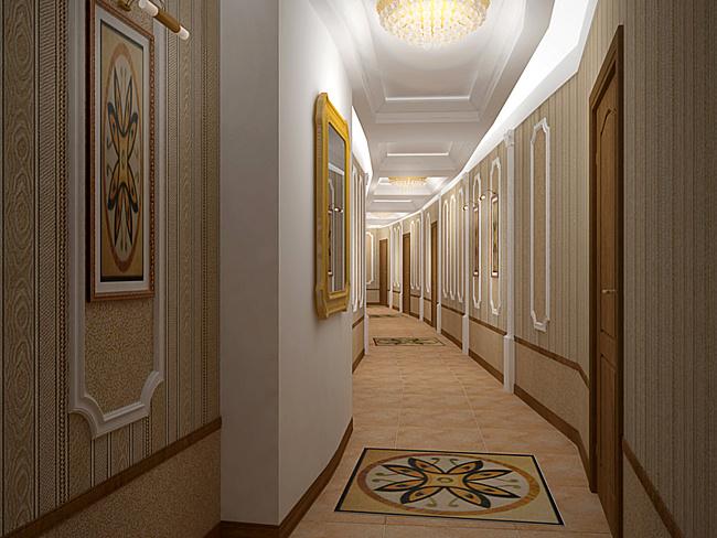 Обои в коридоре универдом