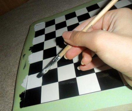 Как сделать шахматную доску из бумаги