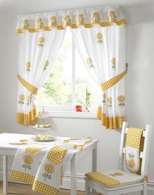 Короткие шторы на кухню фото 3