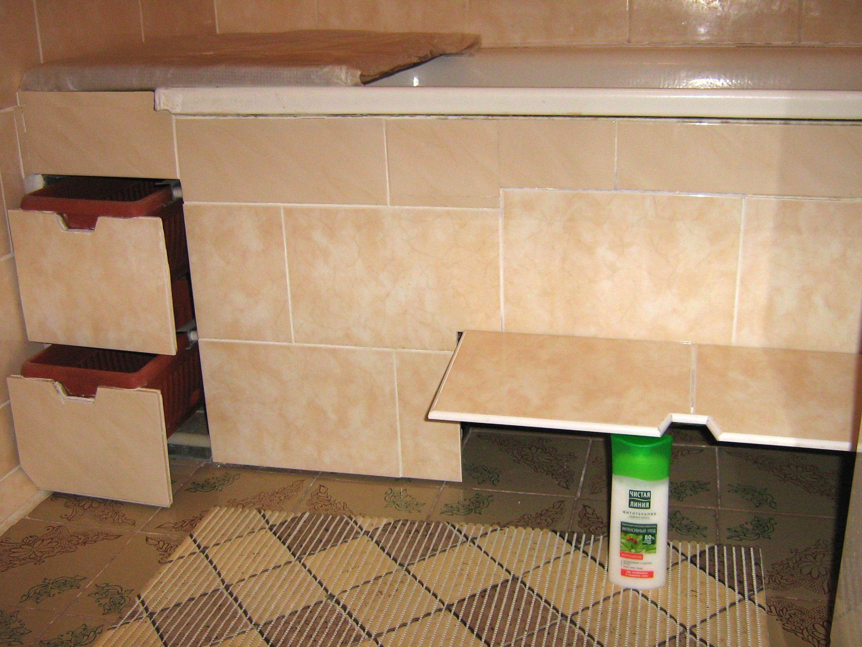 Как сделать дверца под ванной