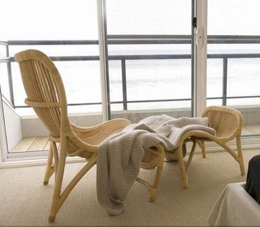 """Плетеная мебель в интерьере """" универдом."""