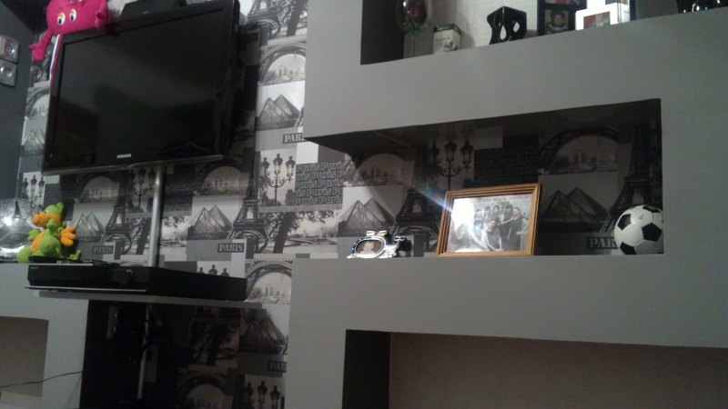 Как сделать полку под телевизор на стену 38