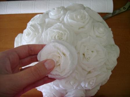 Шары из роз бумаги своими руками