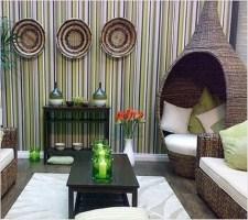 Спальная комната в тропическом стиле